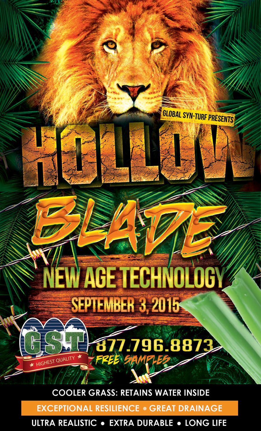 fakegrass Hollow Blade Has Arrived! Artificial Grass That Keeps Moisture Inside To Stabilize the Temperature of the Lawn