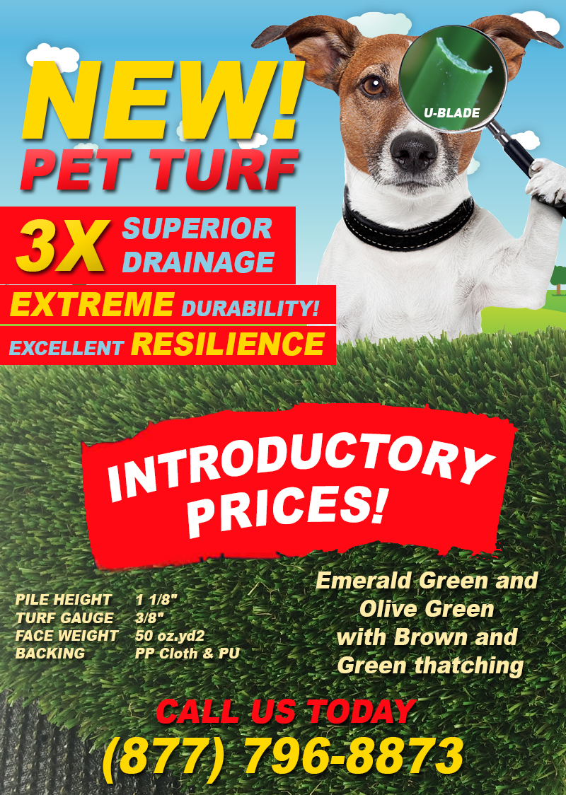 fakegrass New PET TURF with 3X Drainage Capacity Has Arrived!
